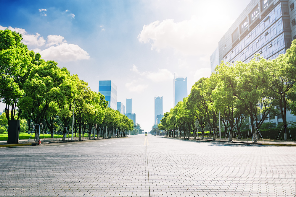 街 オフィス 風景