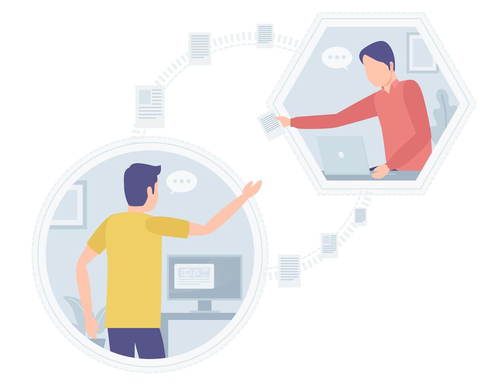 オンライン上のコミュニケーション イメージ