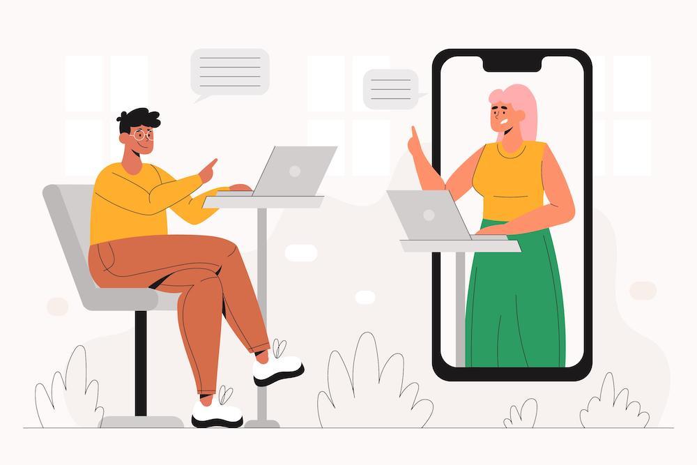 オンラインコミュニケーション イメージ
